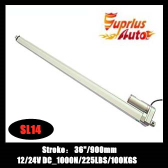 Low price to 36inch/900mm stroke, 12V/24V  DC , 1000N/100kgs/225lbs load linear actuator for recliner chair parts by Express!Low price to 36inch/900mm stroke, 12V/24V  DC , 1000N/100kgs/225lbs load linear actuator for recliner chair parts by Express!