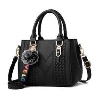 Women Handbag Fashion Shoulder Bags Pu Leather Woman Handbag Big Solid Color Women Bag Cross Body
