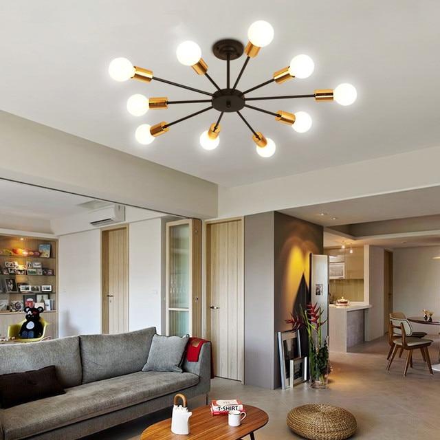 Moderne LED Plafond Verlichting Vintage Lampen Voor Woonkamer ...