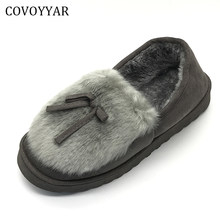2c5fbd296df COVOYYAR 2018 Autumn Winter Women Ballet Flats Lovely Bow Warm Fur Comfort  Cotton Shoes Woman Loafers Slip On Size 40 WFS252