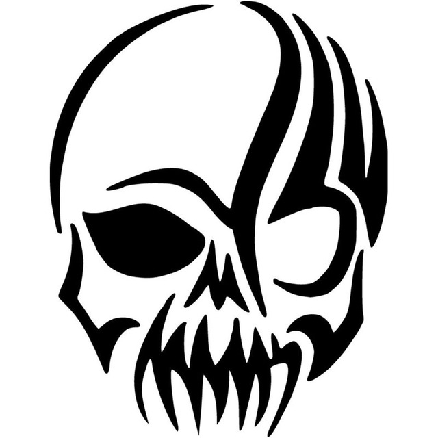 Scary Tribal Skull Vinyl Sticker Fashion Cool Graphics