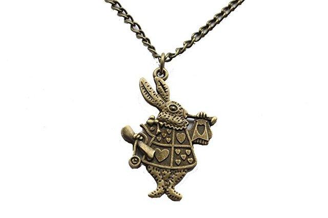 10pcs wholesale ancient bronze rabbit necklace alice in wonderland 10pcs wholesale ancient bronze rabbit necklace alice in wonderland rabbit necklace bunny aloadofball Gallery