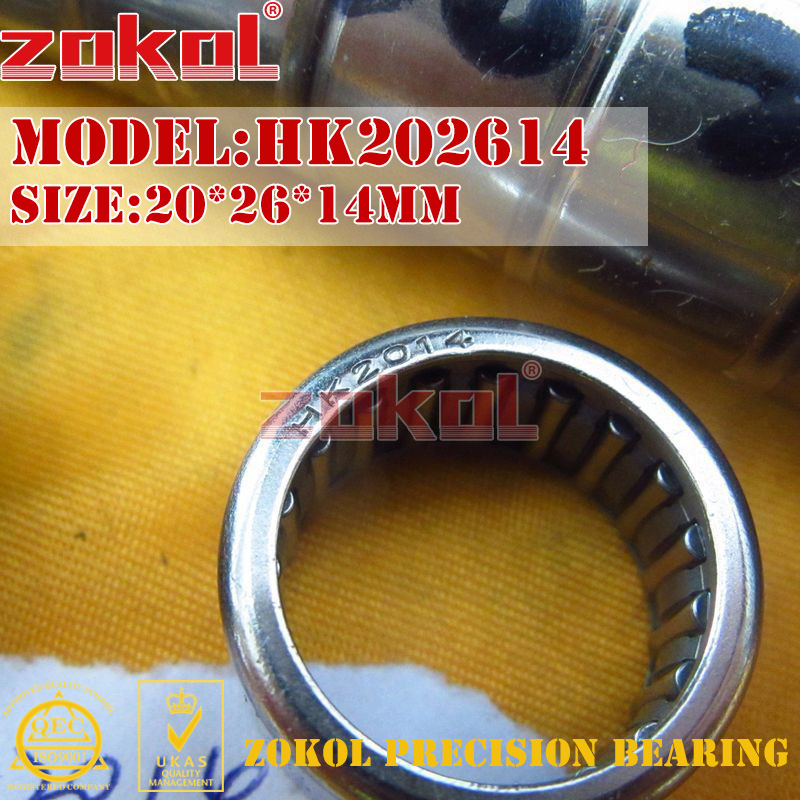 ZOKOL Bearing HK2010 HK2012 HK2014 HK2016 Needle Roller Bearing 20*26*10 20*26*12 20*26*14 20*26*16mm