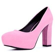 2015 HOT SALE FLOCKรองเท้าส้นสูงสตรีชุดเจ้าสาวเซ็กซี่รองเท้าส้นสูงแพลตฟอร์มเซ็กซี่ส้นกริชปั๊มS Apatos # Hyl18589