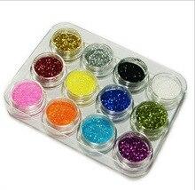 Comercio al por mayor 12 colores del clavo del brillo gradiente necesario derramar impresionante profesional DIY