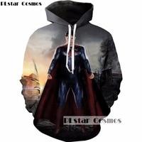 PLstar Cosmos Brand Clothing Superhero Movie 3d Hoodies Superman Printed Sweatshirt Men Women 2017 Hipster Hoody