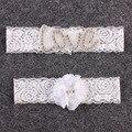 1 Unidades Rhinestone Conjunto de Encaje de Flores Nupcial Liga y el Lanzamiento de la Liga Liga De La Boda Fijados Accesorios De La Boda Lencería & Ligas A37
