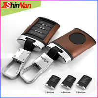 ShinMan Top Layer Leather+ABS key Cover key shell CAR key case key Cover For Cadillac CTS XTS ATS XLS SRX Keychain Accessories