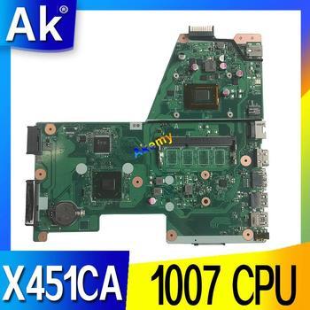 New! Akemy X451CA Laptop Motherboard For ASUS X451C X451CA F451C mainboard 1007U CPU 2GB RAM 100% test OK