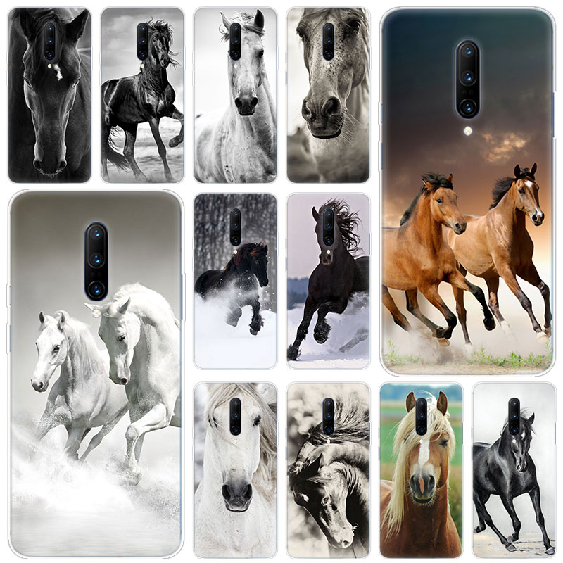 Hot Horses Running Soft Silicone Fashion Transparent Case For font b OnePlus b font font b