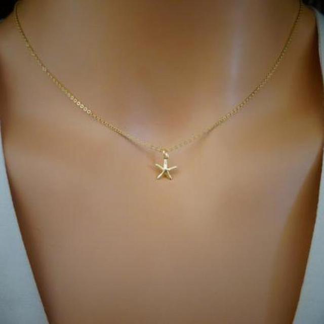 Aliexpress buy lady danity sea star necklace simple lady danity sea star necklace simple personality starfish pendant necklaces for women collier jewelry kolye bijoux aloadofball Choice Image