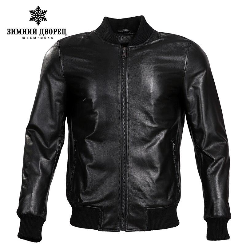 2018 Printemps nouveau Mode en cuir veste hommes veste en cuir Classique en cuir veste hommes motocyclette Mince véritable veste en cuir hommes