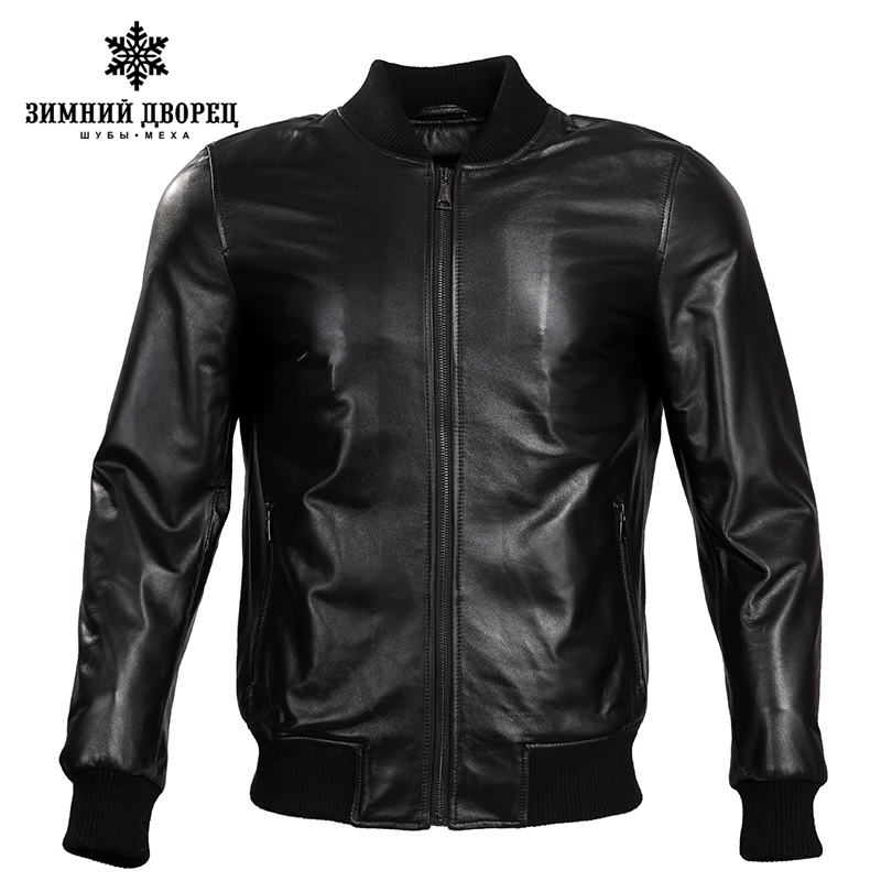 2018 Spring new Fashion leather jacket men leather jacket Classic leather jacket men motorcy Thin genuine