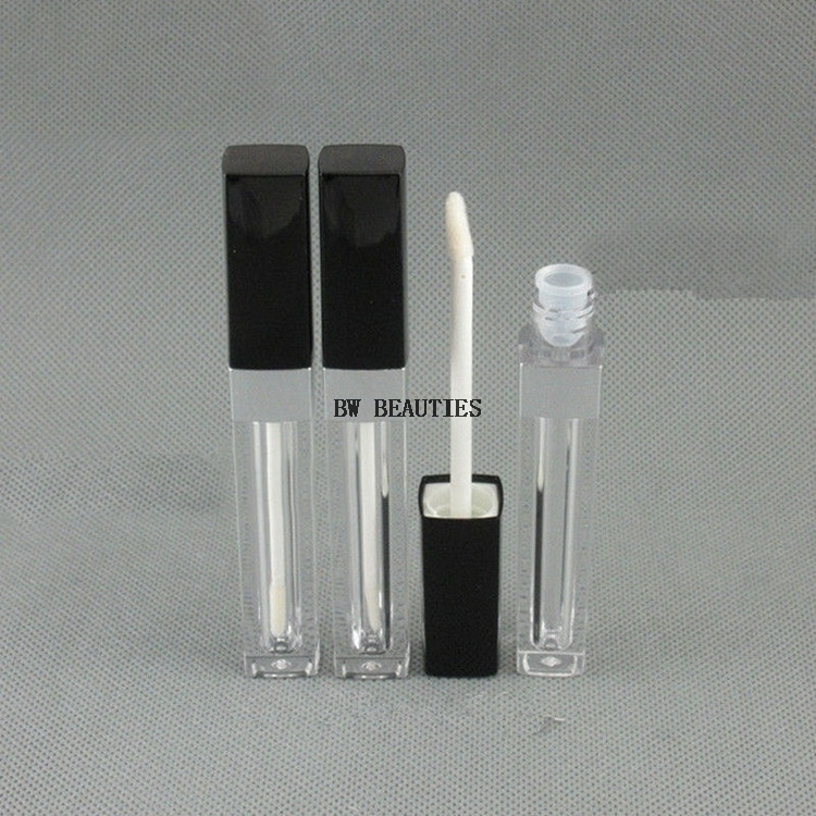 1000Pcs/Lot 3.5ml Clear lucency Plastic eyeliner packaging Containers Originales New Style Square Liquid eyeliner Empty Bottles