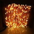 30 м 300 LED Открытый Рождество Сказочных Огней Теплый Белый Медный Провод LED Огни Строки Звездное Свет + Адаптер Питания (ВЕЛИКОБРИТАНИЯ, США, ЕС, Разъем АС)