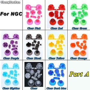 Image 2 - ChengHaoRan 10X pełny zestaw L R ABXY Z przyciskami klawiatury dla GameCube kontroler do gier nasadka na dżojstik dla NGC D Pads przycisk włączania i wyłączania