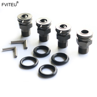 FVITEU Alloy Upgrade Hex Hub/Extended Axle Set For Losi 5ive T Rovan LT King Motot X2
