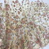 New 1Yard Heavy Flower Mesh Embroidery African Lace Fabric Material Textile Sew Wedding Dress Clothes Patchwork