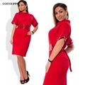 COCOEPPS Fashion casual Sequins women dresses big sizes Turtleneck Dress plus size women clothing 5xl 6xl Short sleeve dress