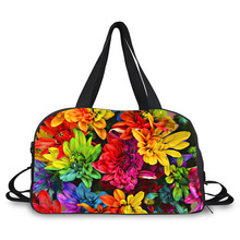 3D Beautiful flowers New Fashion Large Capacity Ladies Luggage Bag Trav