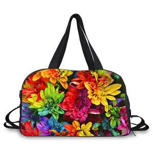 Bolso de equipaje de mujer de gran capacidad con hermosas flores en 3D, bolso de viaje con estampado, bolsa de viaje, bolsa de equipaje informal