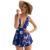 Bodysuit moda projeta 2016 v profundo neck bandage floral print jumpsuit mulheres macacões macacão verão sexy clube desgaste macacão
