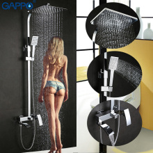 GAPPO bathroom shower faucet set bronze bathtub shower faucet Bath Shower tap waterfall shower head wall mixer chrome G2407