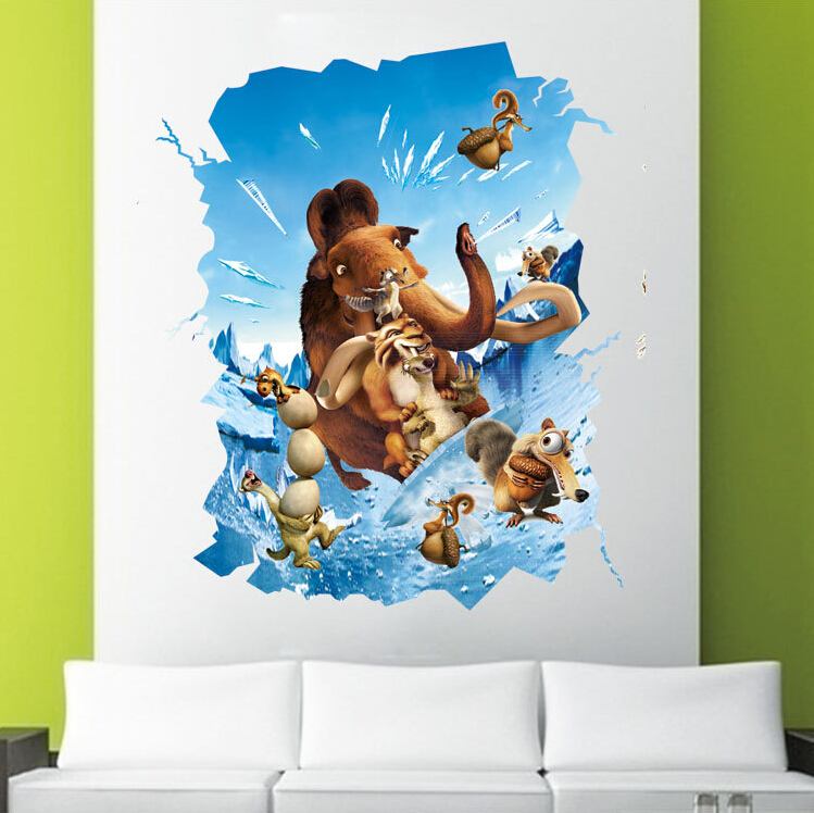 Aliexpress.com : Buy 10 Models Hot DIY 3D Cartoon Wall Murals Wallpaper  Sticker Finding Nemo Self Adhesive Wallpapers For Bedroom Child House Decor  From ... Part 36