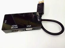 3 в 1 DisplayPort/HDMI 4 К * 2 К DVI адаптер VGA конвертер Ultra HD Thunderbolt DP1.2 кабель для MacBook HDTV Monitor проекта(China)