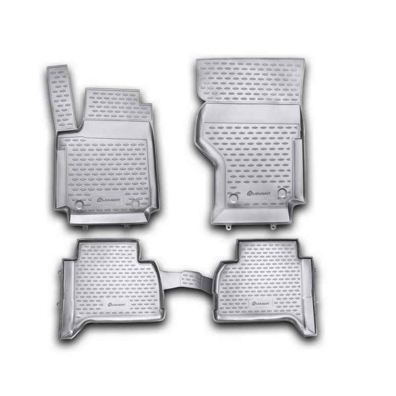 Carpet mats interior For VW Amarok, 2010-> 4 PCs (polyurethane) фаркоп vw amarok с бампером 2010