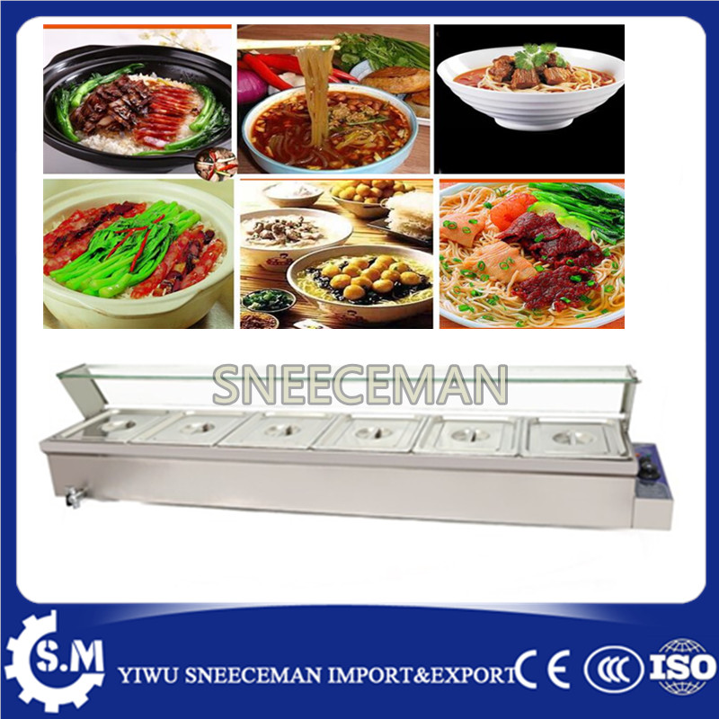 Commercial 6 Pans food warmer