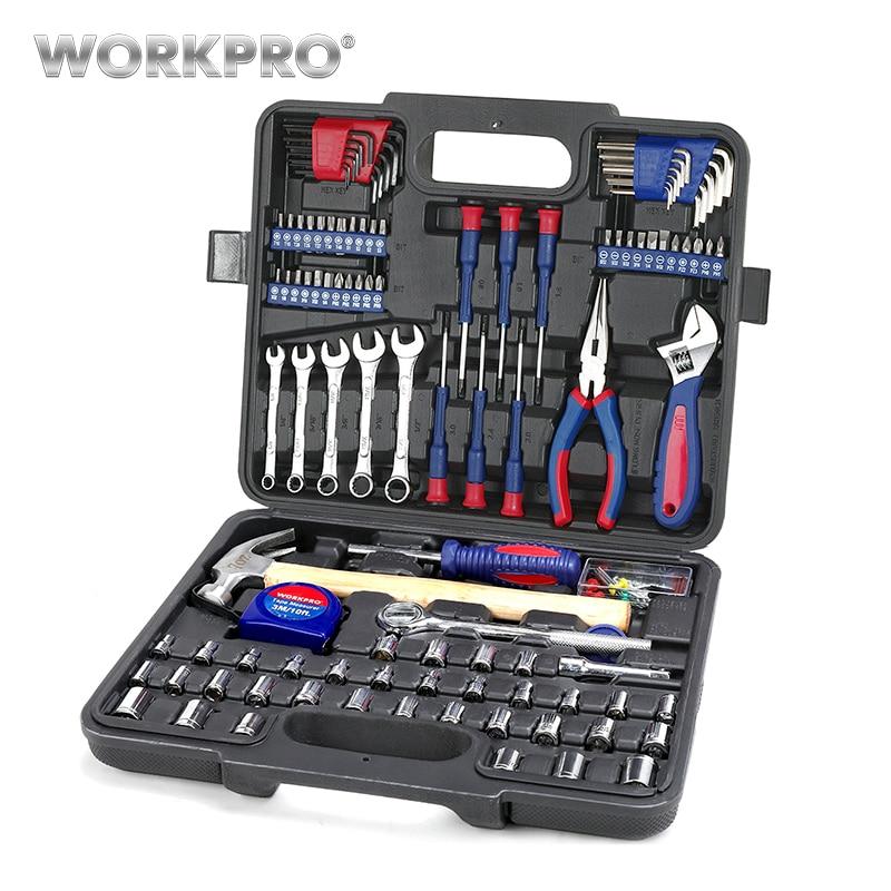 WORKPRO 165 шт. дома бытовые инструменты набор инструментов ручной