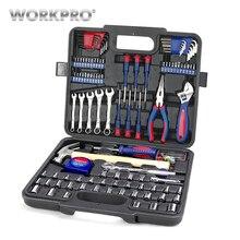 WORKPRO 165PC Home Repair Tool Set Ratchet Wrench Sockets set For Car Repair Precision Screwdriver Bits Set Hex Key Hammer Tape