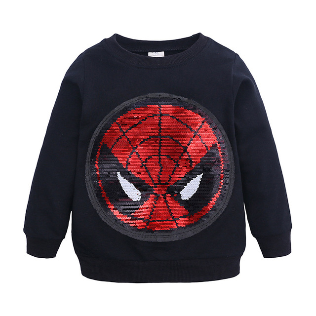 Spiderman Face-changing Captain America Boys Sweatshirts for Kids 1