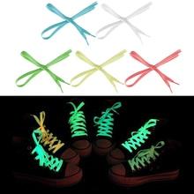 1 пара/лот светящиеся шнурки светится в темноте Цвет флуоресцентный спортивная обувь на шнуровке плоские шнурки обуви веревка для набора «сделай сам»