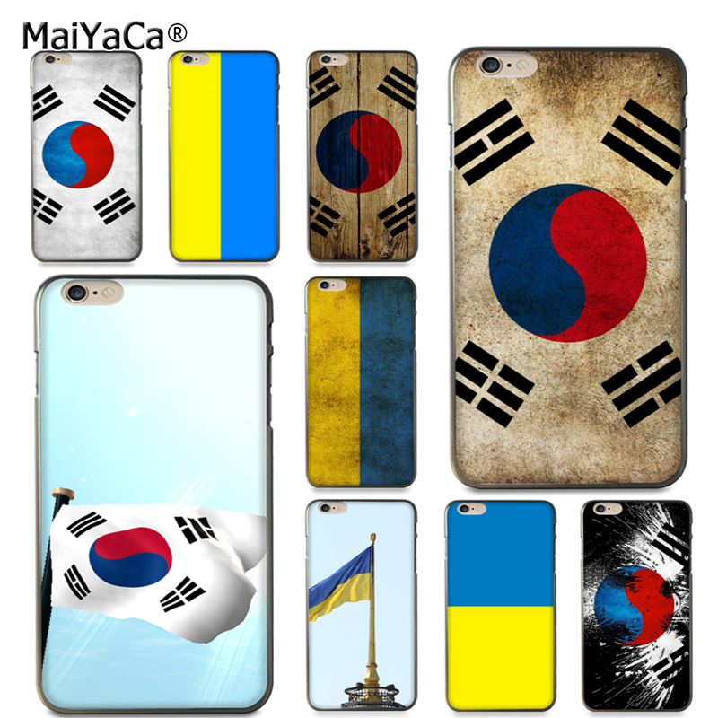 MaiYaCa South Koreanische und Ukraine flagge Diy Luxus Schutz telefon Fall für <font><b>iPhone</b></font> 8 7 <font><b>6</b></font> 6S <font><b>Plus</b></font> X 10 5 5S SE 5C fall Coque image