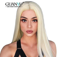 Guanyuhair Glueless Lace Front Human Hair Wigs Pre Plucked Malaysian Straight Blonde Lace Front Wigs Remy Hair For Black Women