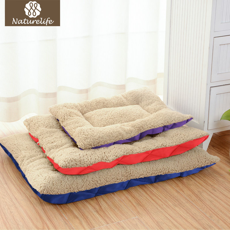 Naturelife Warm Dog Beds For Small Dogs Summer Soft Dog Mat For Cat Puppy Plus Size Solid Dog Kennel Cushion For Drop Shipping