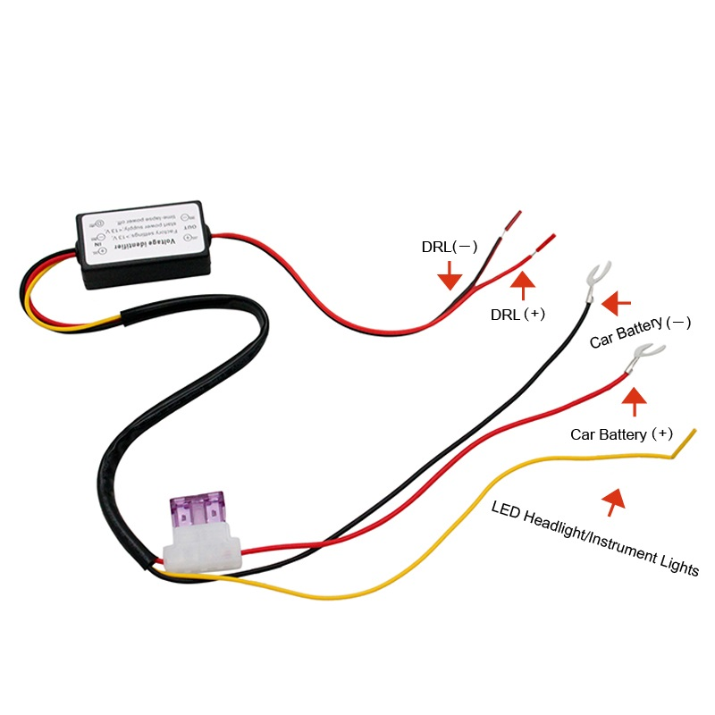 drl controller auto car led daytime running light relay