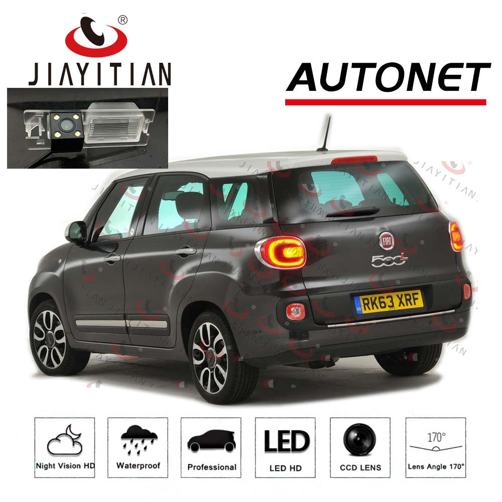 JIAYITIAN Rear Camera For FIAT 500L/500L Trekking/500L Living/500X MPW/CCD/Night Vision/Reverse Camera License Plate Camera