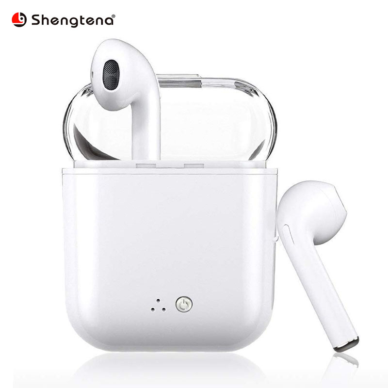 i7s Earphone Bluetooth Earphone Wireless Headphone Ear Double No air lugs Compatible for iPhone 7/8 Plus X Android