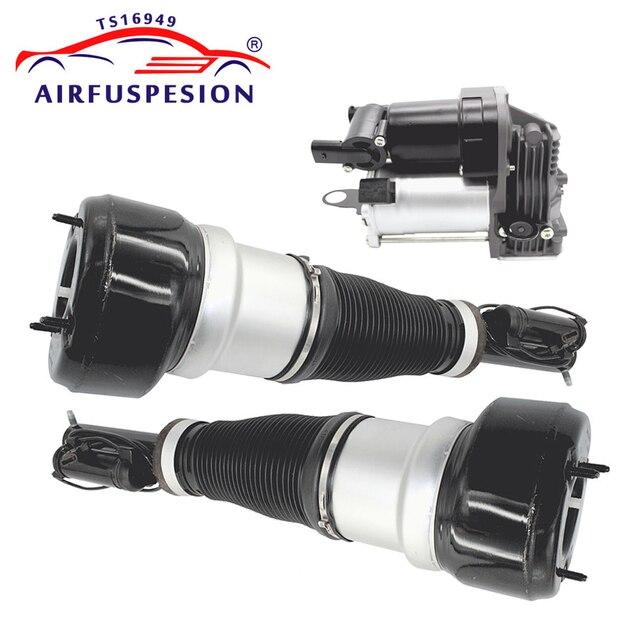 Paar Front Air Suspension Schock Luft Kompressor Pumpe für Mercedes W221 S KLASSE 2213201604 2213204913 2213205113 2213201704