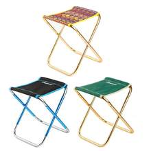Light Outdoor Fishing Chair By Strong Aluminum Alloy Nylon Camouflage Folding Small Size Chair Camping Hiking Chair Seat Stool(China)