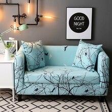 Pflanzen Und Vögel Muster Sofa Abdeckungen Für Wohnzimmer Einzigen Doppel Drei Vier Sitz Sofa Hussen Universal-Stretch Hussen