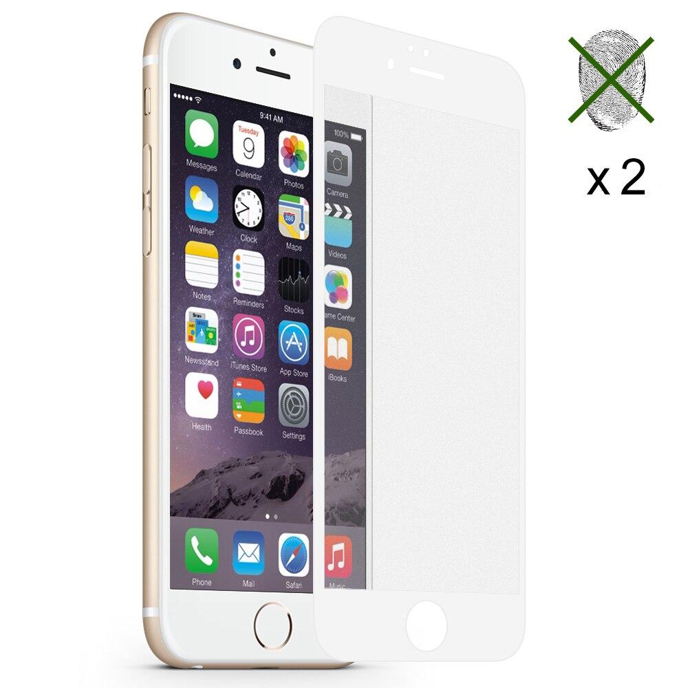 2 шт. матовая full cover для iPhone X 8 плюс 7 6 S 6 плюс защита экрана закаленное стекло Корпус дружественных пузырьков аксессуары