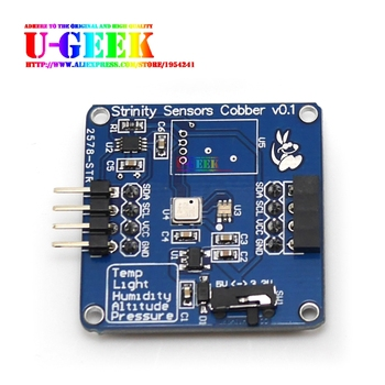 UGEEK Temperature, Barometric, Altitude, Light Four in One Sensor Module for Arduino/Raspberry Pi 3B+/3B/2B/Zero, Suport Stack