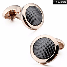 Cufflinks Jewelry Shirts Rose-Gold High-Quality Men Metal for with Little-Dot Long-Sleeve