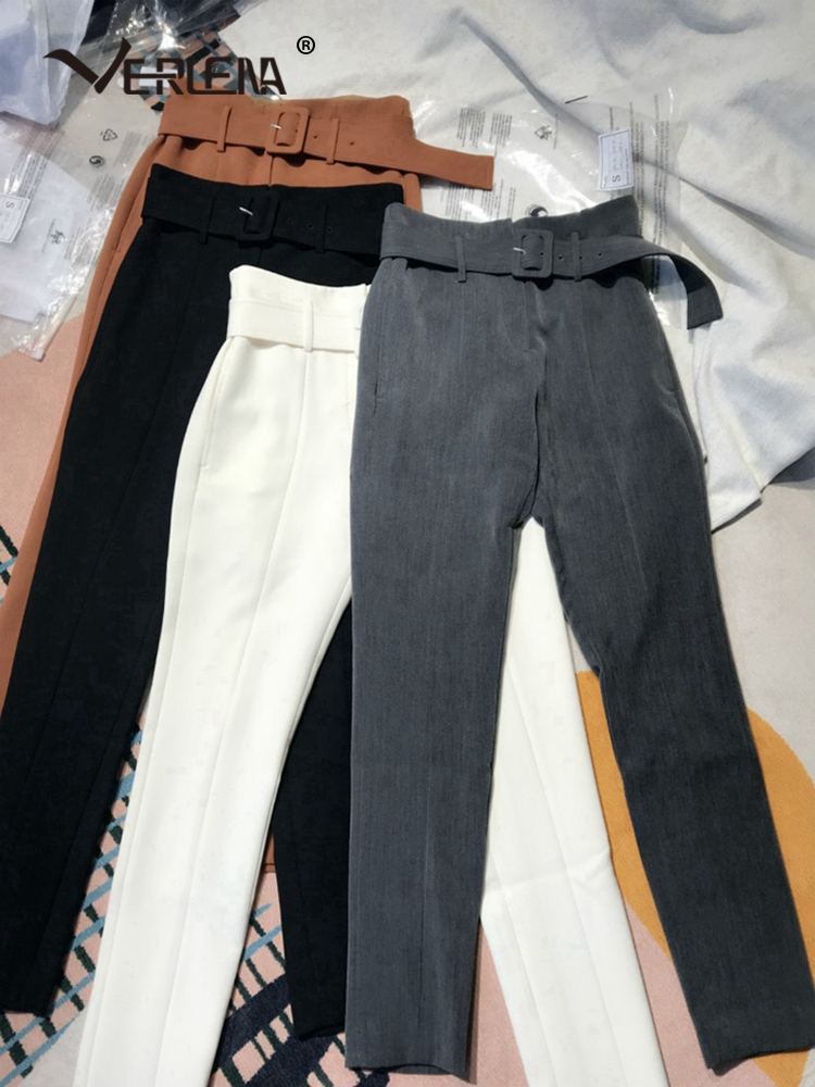 Ceinture Costume Cheville Avec Qualité Réglable Pantalon Noir 2019 Nouveauté Noir Ol Supérieure Elagant Bureau Verlena blanc orange Slim De Longueur gris SxC6qw