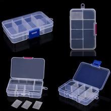 2PCS Red & Blue 8 Slots Adjustable Jewelry Storage Box Case Craft Organizer Bead Prateleira Organizer Holder Storage Tools