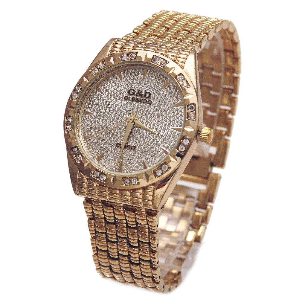 G&D Top Brand Luxury Women Bracelet Watches Quartz Wristwatch Silver Steel Relojes Mujer Lady Dress Watches Relogio Feminino